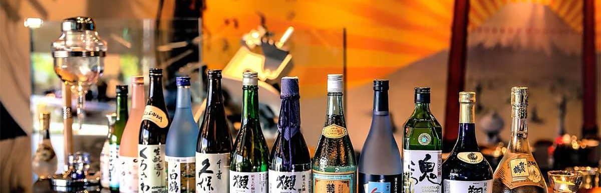 Sake Bottles at Bar