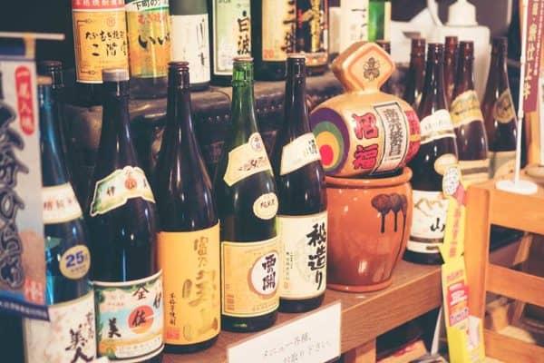 Sake Bottles in Tokyo